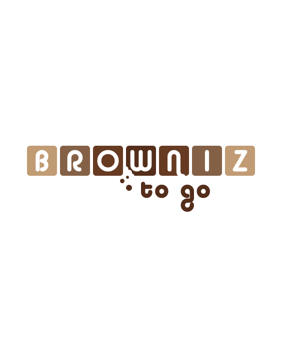 brownie to go logo design
